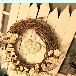 Simple Spring Vignette from Vintage News Junkie