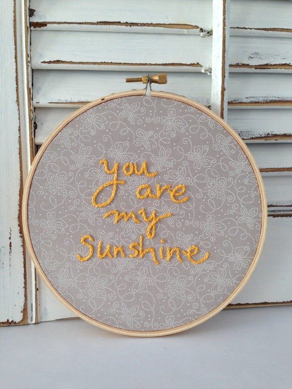 you are my sunshine hoop print