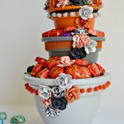 Dove Chocolate Tiered Candy Bowl from The Cards We Drew blog