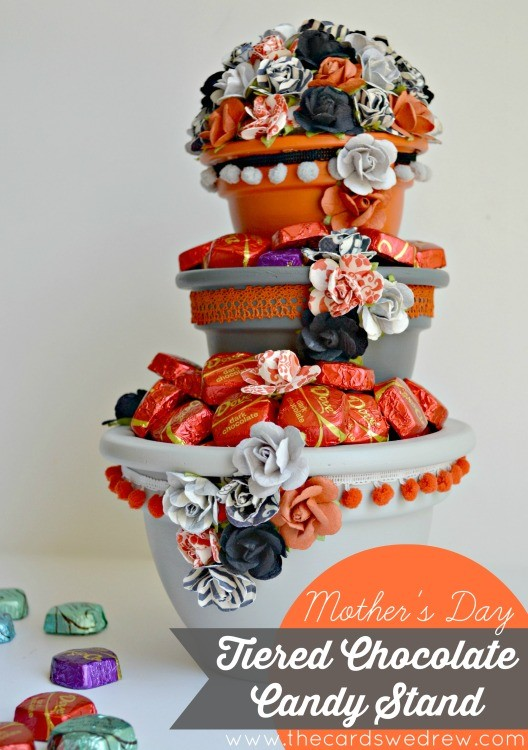 Dove Chocolate Tiered Candy Dish from The Cards We Drew for Mother's Day