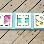 Cut It Out Wooden Letter Name Sign