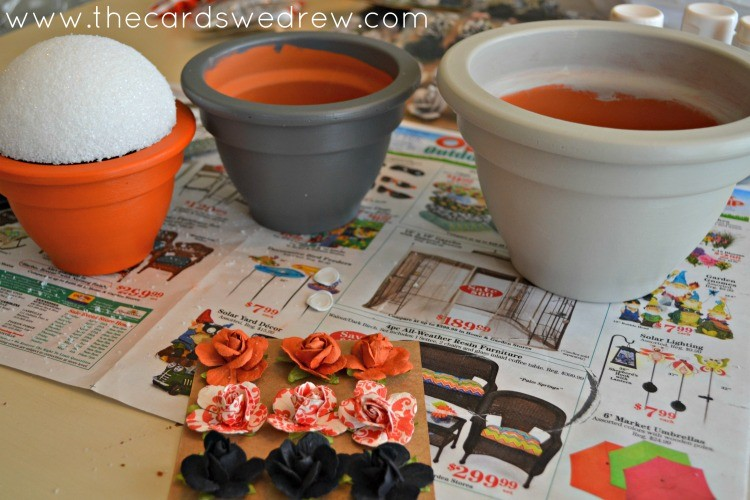 add styrofoam to pots