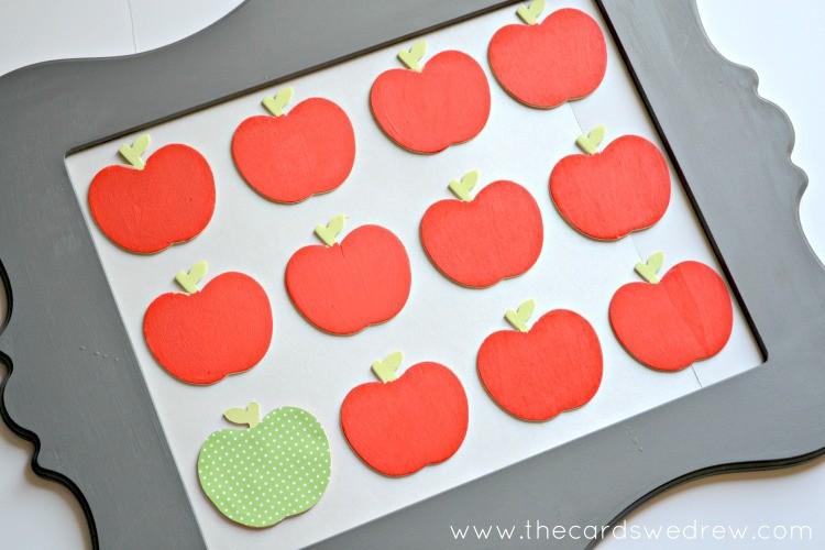 apple specimen art set up