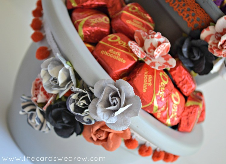 chocolate flower candy stand