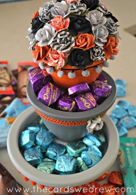 chocolate flower pots