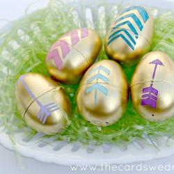 Gold Arrow Easter Eggs