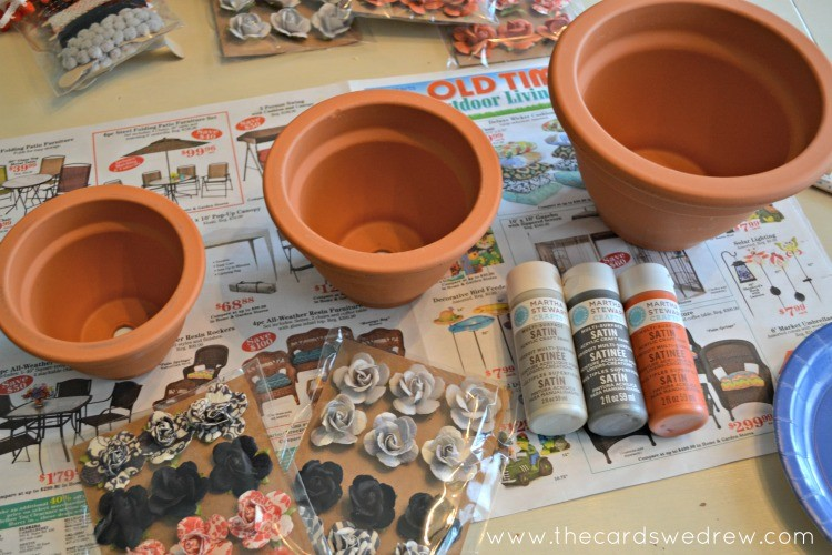 paint three pots