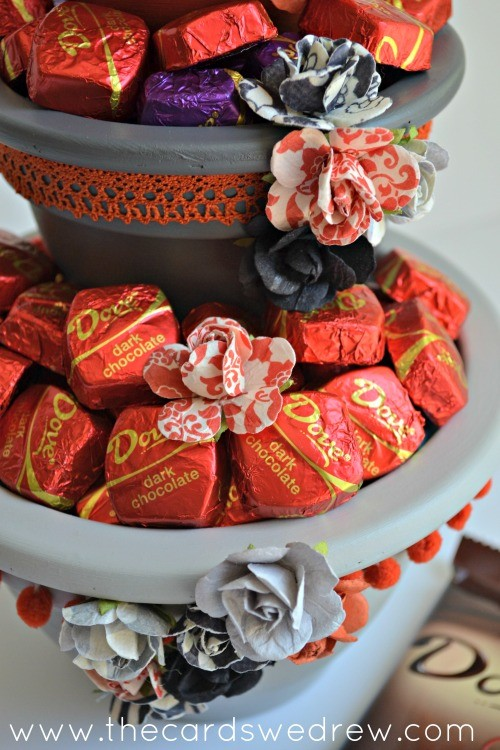 tiered chocolate stand