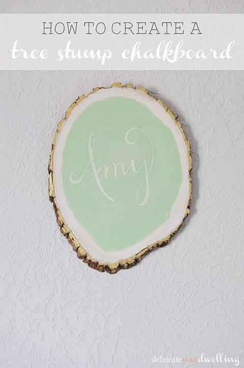 1 Tree Stump Chalkboard
