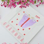 Butterfly Footprint Mother's Day Gift Idea from The Cards We Drew