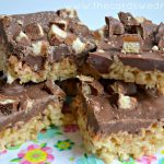 Chocolate Caramel TWIX® Bites Rice Krispie Treats
