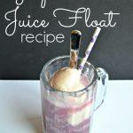 Grape Juice Ice Cream Floats