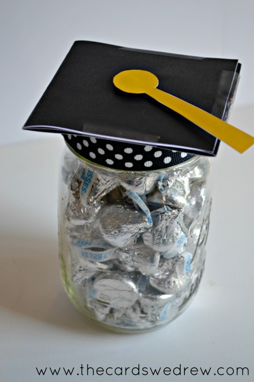 Hats off to you grad mason jar gift idea from The Cards We Drew and DimplePrints