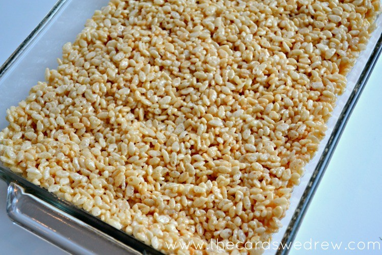 Make a pan of rice krispies according to package