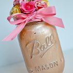 Painted Flower Mason Jar Gift Idea + Blog Hop!