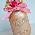 Painted Flower Mason Jar Gift Idea + Blog Hop!