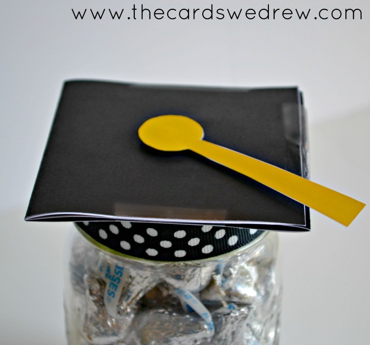 graduation cap mason jar