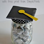 Mason Jar Graduation Hat Gift Idea and Free Print