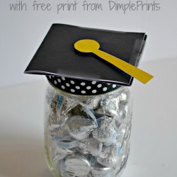 mason jar grad hat gift with free print from dimpleprints and the cards we drew