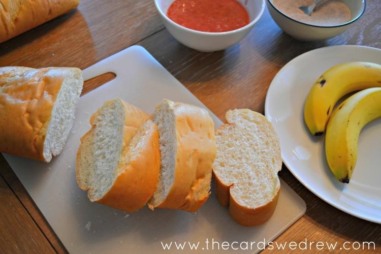 slice up the tonga toast