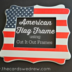 American Flag Frame using Cut It Out Frames