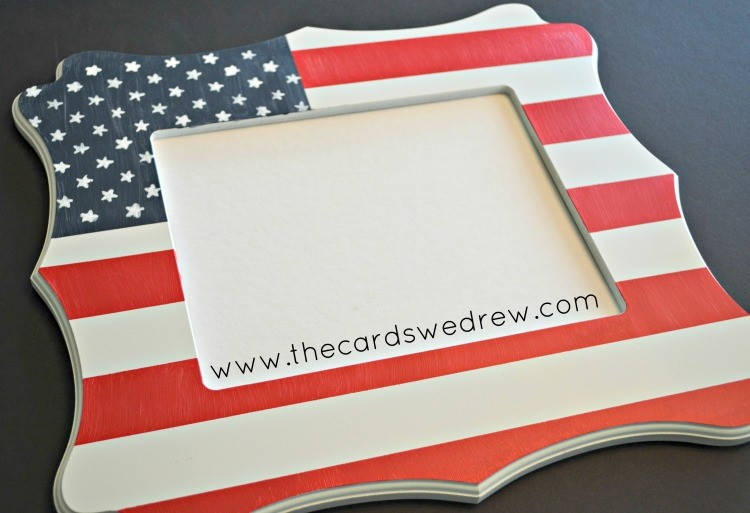 Cut It Out Already DIY American Flag Frame