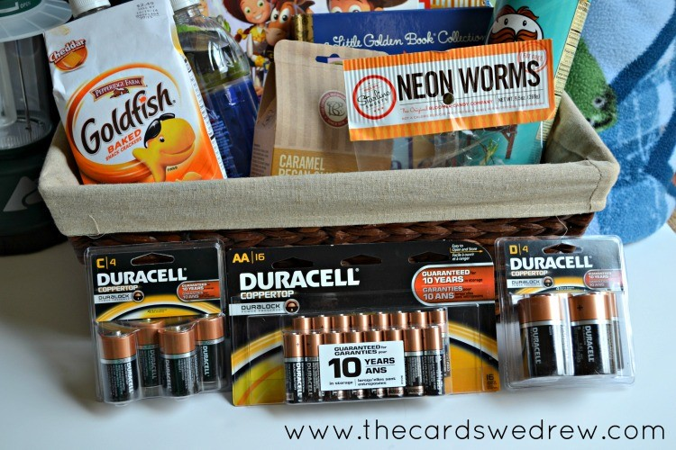 Get Duracell batteries for your storm supply