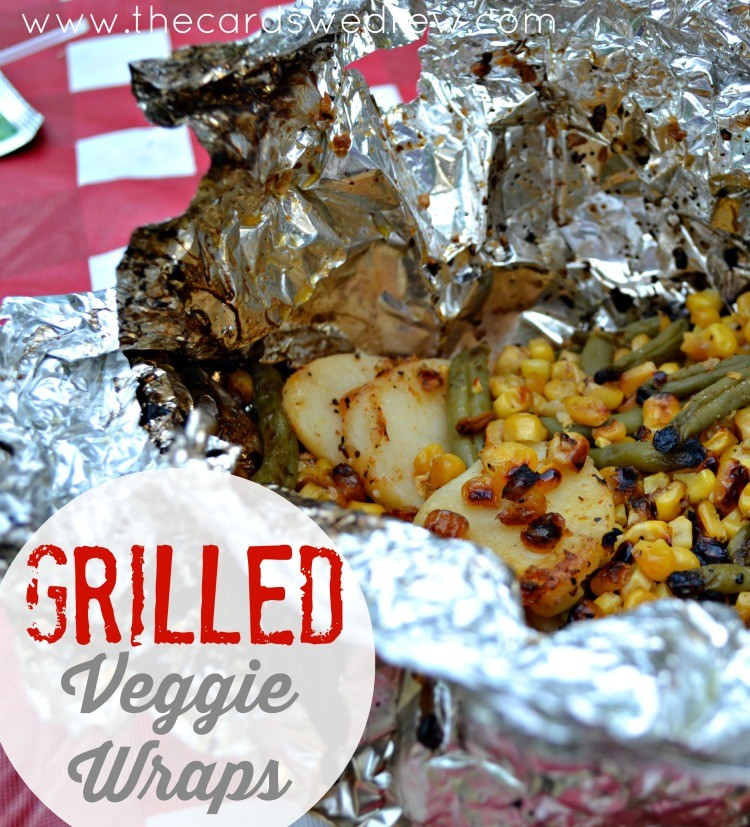 Grilled Veggie Wraps from The Cards We Drew