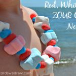 Red White and Zour® Necklace Candy Idea
