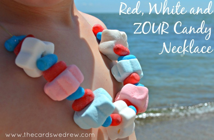 Red White and Zour Candy Necklace #ZourFace
