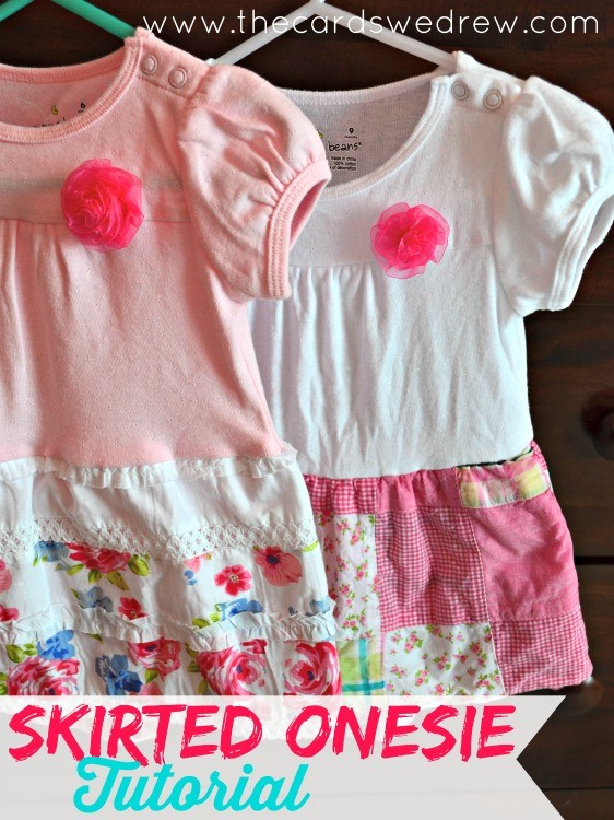 Skirted Onesie Tutorial from The Cards We Drew