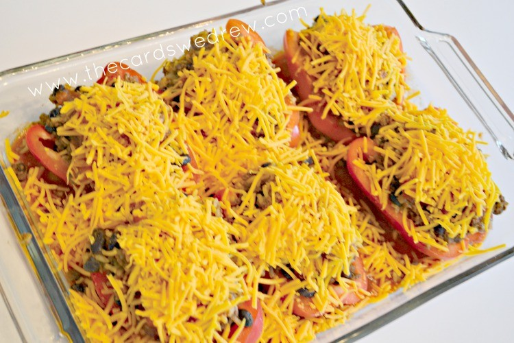 add cheese and place in the oven