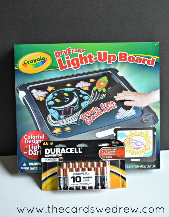 dry erase light up board with duracell batteries