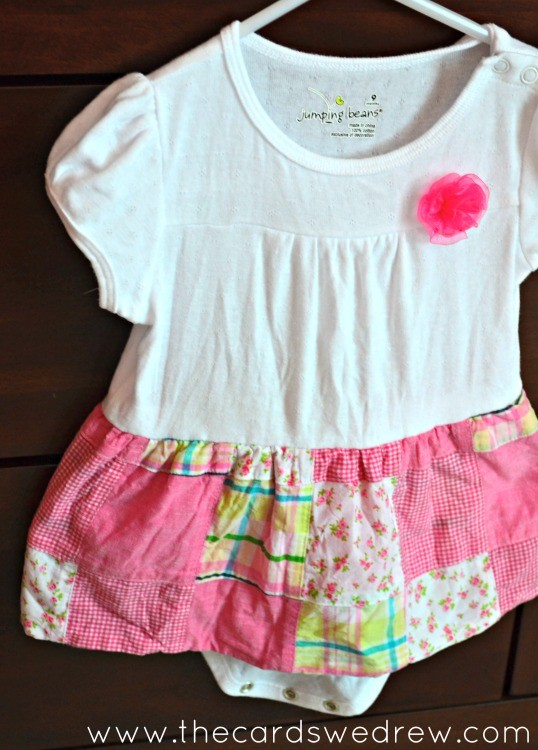 easy skirted onesie tutorial from the cards we drew
