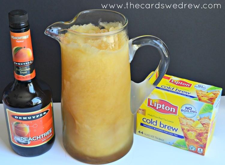 frozen peach tea slushie ingredients
