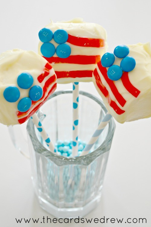 jumbo marshmallow flag pops