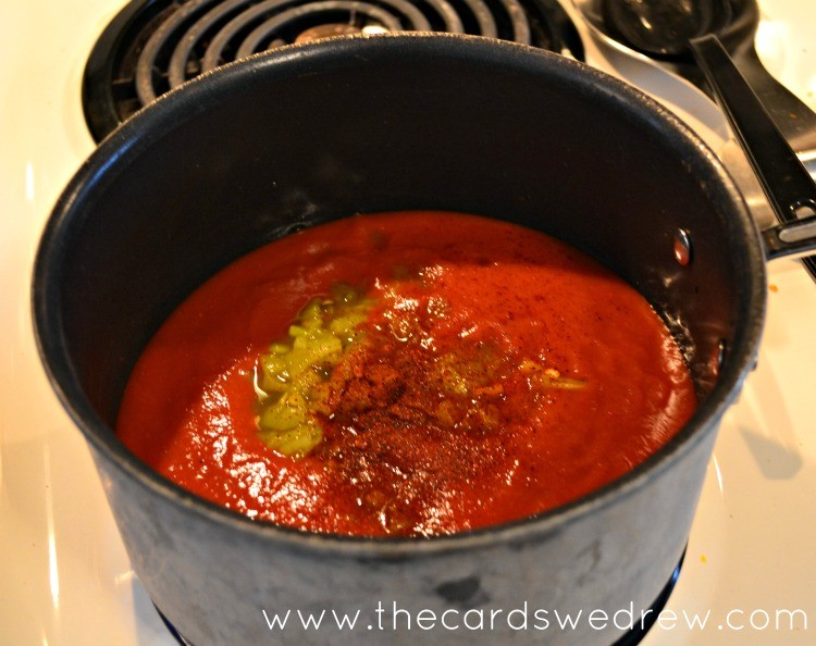 make enchilada sauce for your peppers