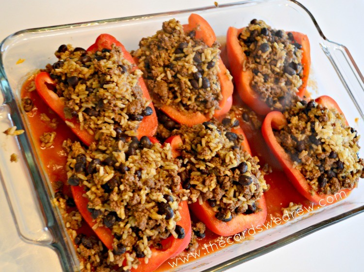 mexican stuffed peppers with rice and black beans