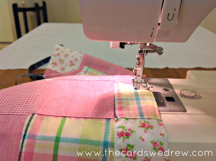 run two lines of gathering stitches