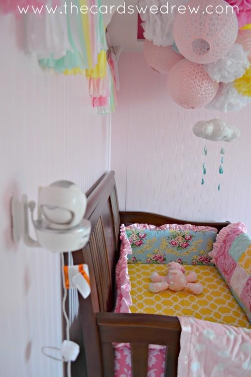 wall mounted VTech Baby Monitor camera