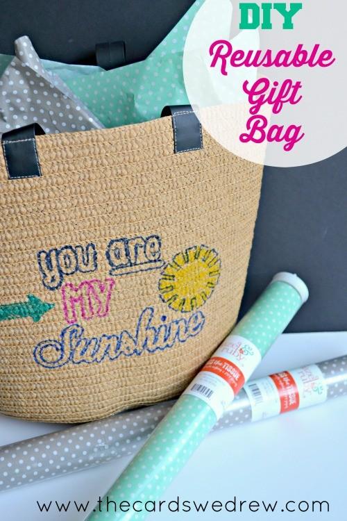 DIY Reusable Gift Bag Idea with Hazel & Ruby Stencil-Masks ...