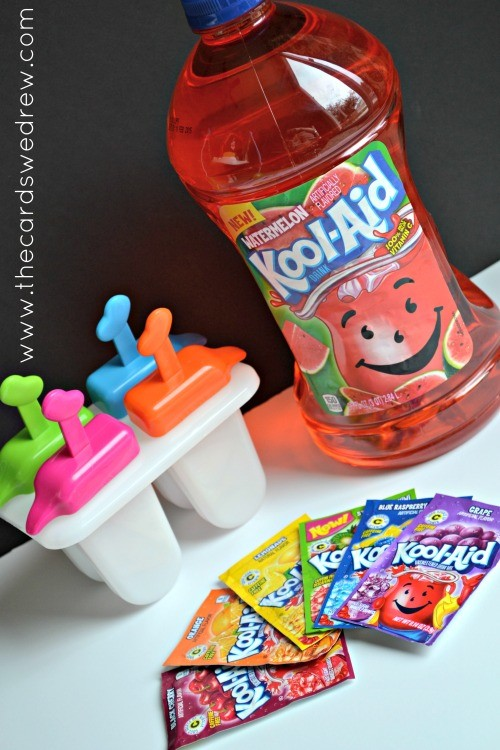 Kool-Aid bottle with popsicles