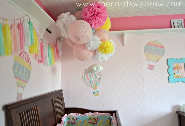 Wallternatives Hot Air Balloon Nursery Decor