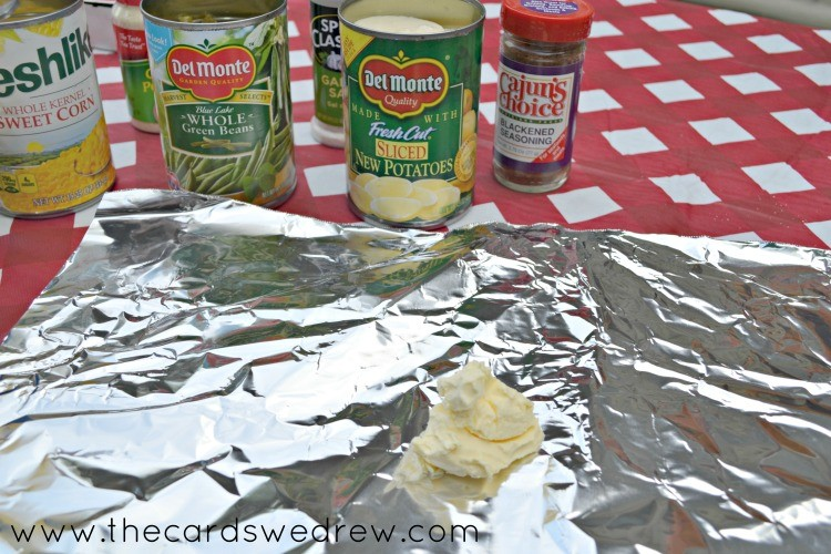 add butter to the foil