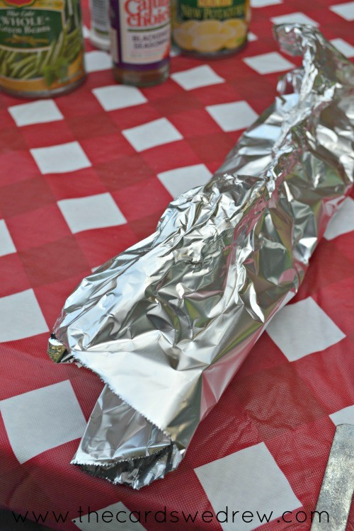 fold your foil up