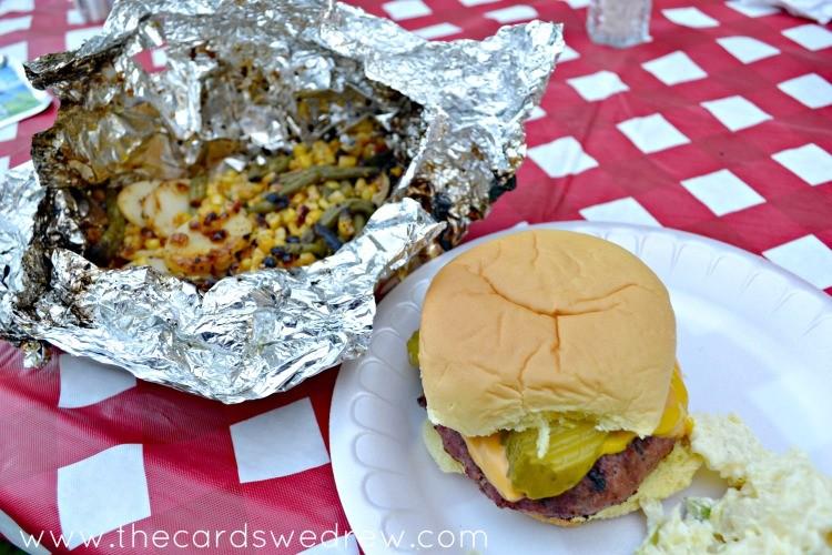grilled veggie wraps BBQ side dish
