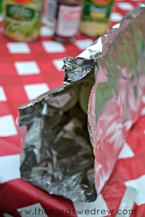 make a tent with your foil