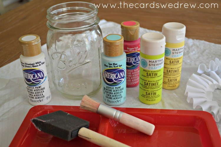mason jar vase tools