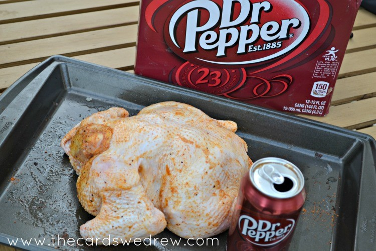 season your chicken and open your dr. pepper