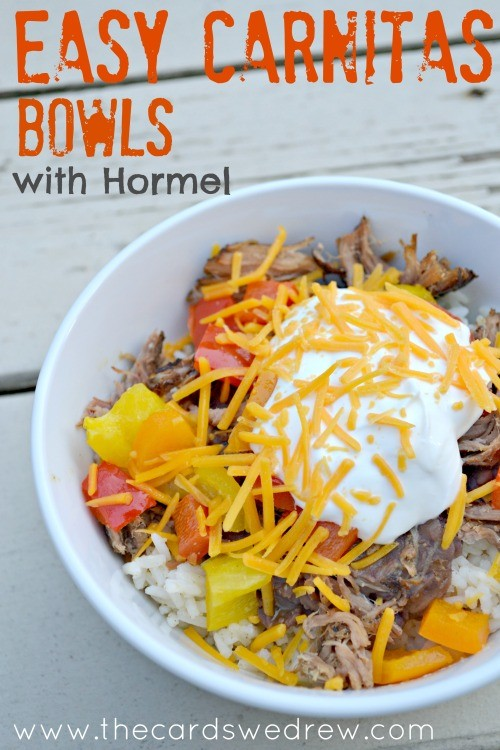 Easy Carnitas Bowls with Hormel #newfromhormel #CollectiveBias #shop